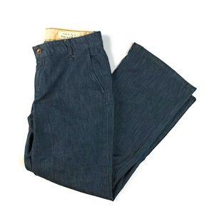 Rag & Bone Handmade Kick Flare Ankle Crop Jeans